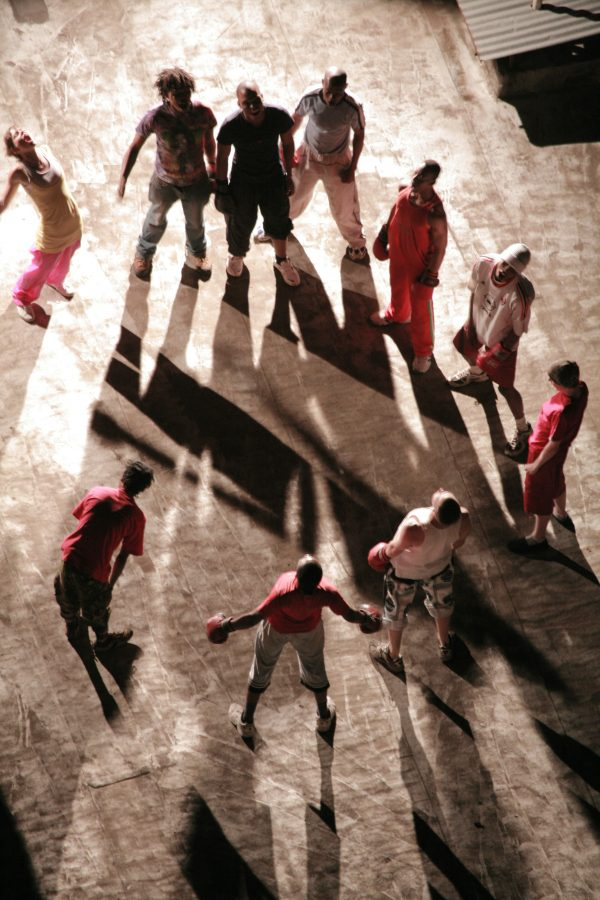Boxing Games (2007), Johannesburg rooftop performance, Anthea Moys